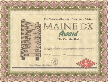 Maine DX Award