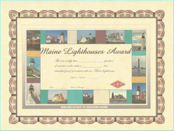 Maine Lighthouses Award
