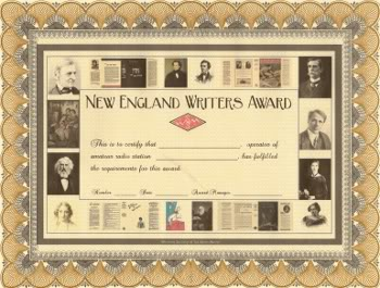 New England Writers Award