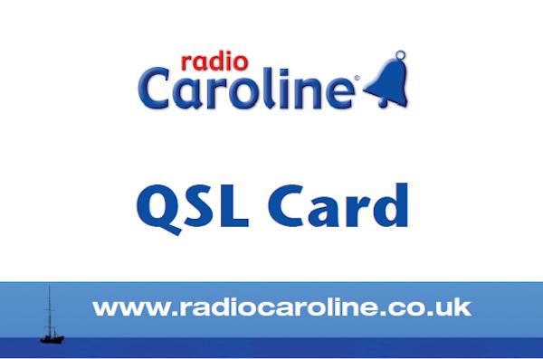 Radio Caroline QSL card