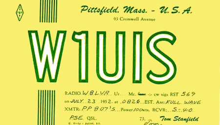 W1UIS QSL Card
