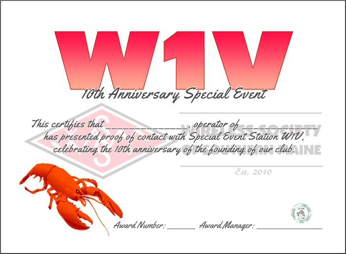W1V Certificate