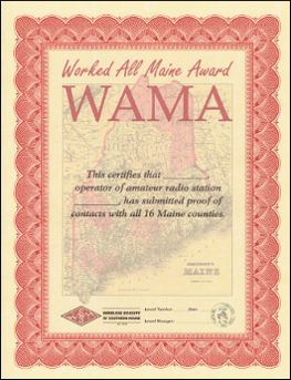 Worked All Maine Award