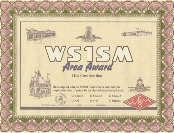 WS1SM Area Award