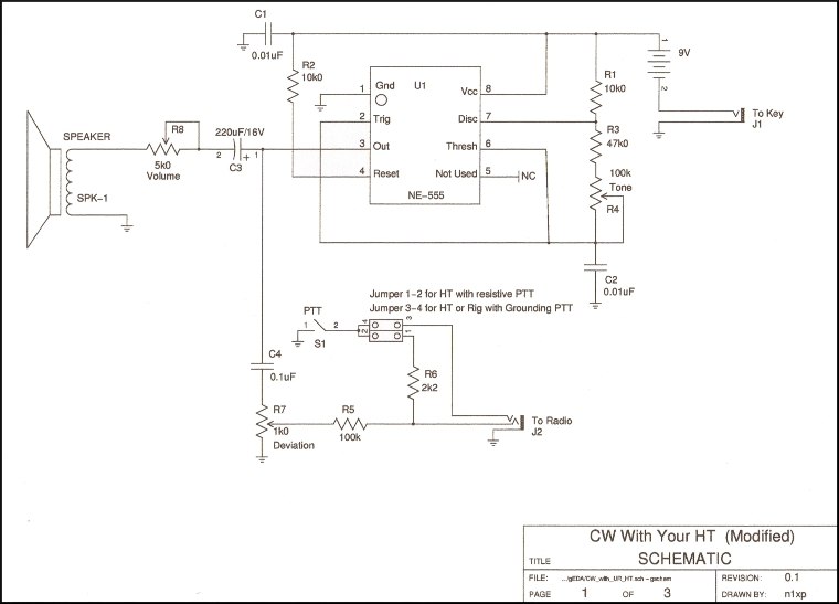 CW With An HT Schematic